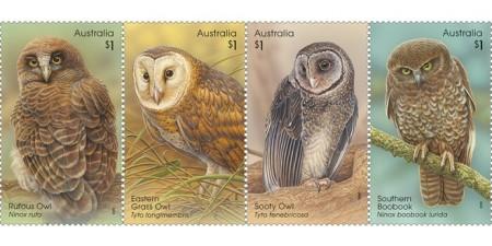 australian-owls-stamps